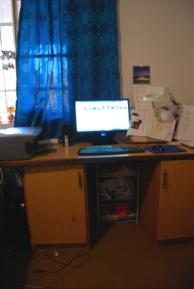 Tech wall - PC, Printer, Sewing Machine and Overlocker