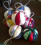 Christmas Tree Balls fabric