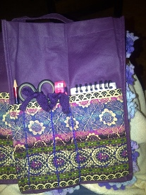 Side pockets for pencil, notebook, scissors and tape measure
